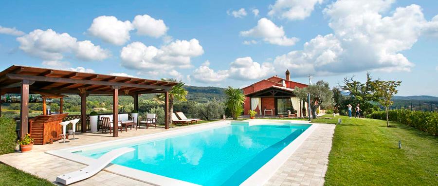 Casa Melani - garden and swimming pool